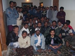 [Jordan] Two Nepalese and six Indian workers, part of a larger group of about 280 Nepalese and Indian workers illegally trafficked into Jordan, remain stranded in the capital. [Date picture taken: 05/29/2006]