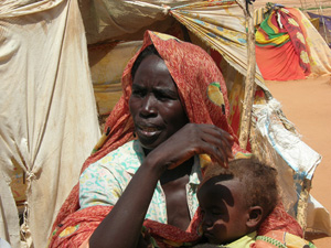 [Sudan] Kaltum Saleh Adam in El Salaam IDP Camp, North Darfur. [Date picture taken: 09/10/2006]