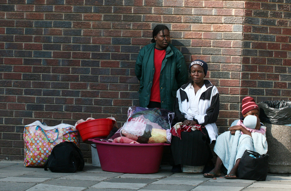 Several million South Africans are homeless.