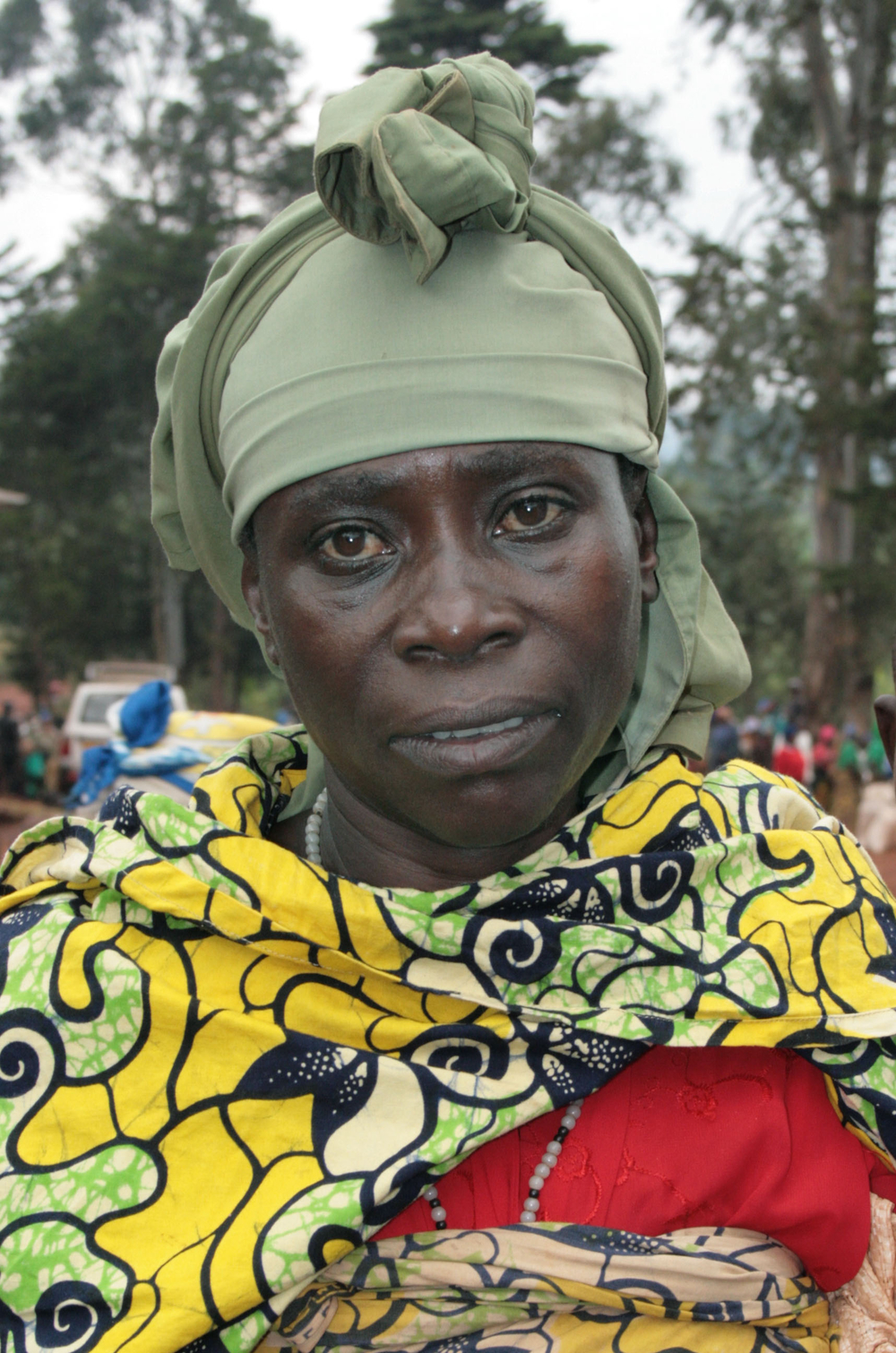 Janet Furaha, an IDP in Walungu, South Kivu Province. July 2007.