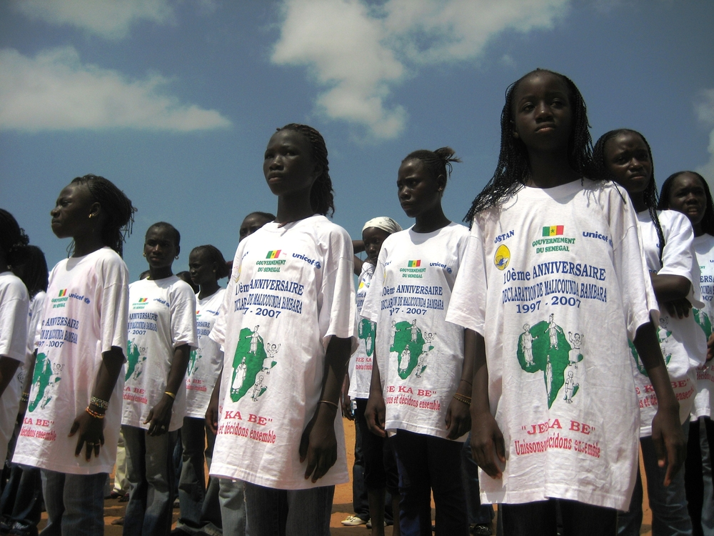 10-year commemoration of the first public abandonment of female genital mutilation in the Senegalese village of Malicounda Bambara.
