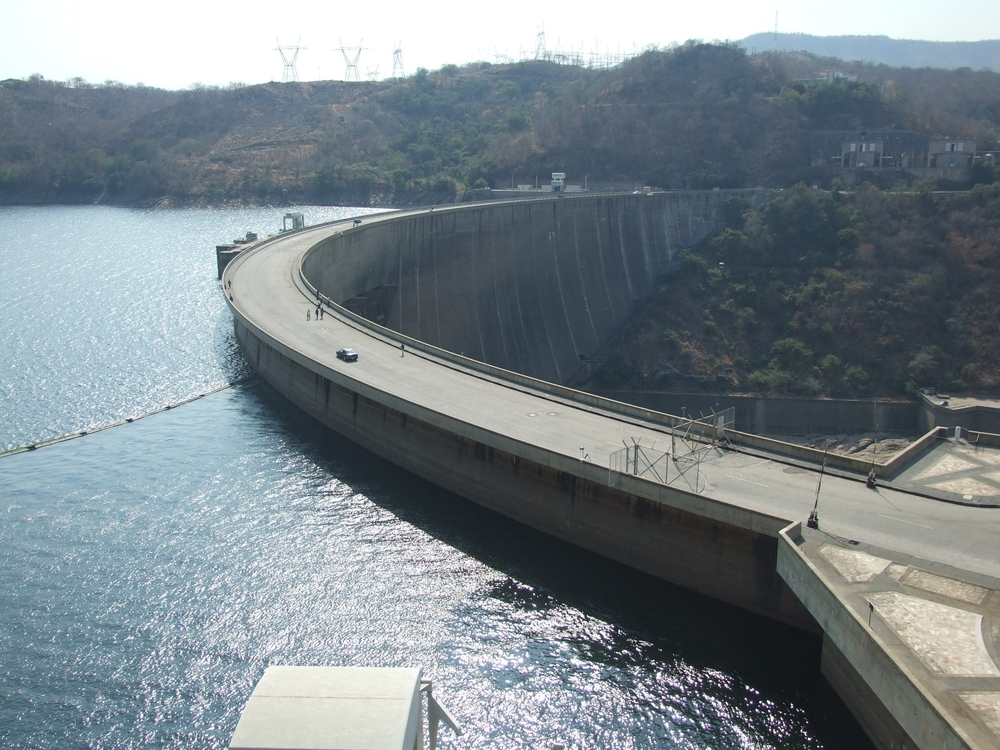 Kariba Dam,Lake Kariba from the Zimbabwean side.