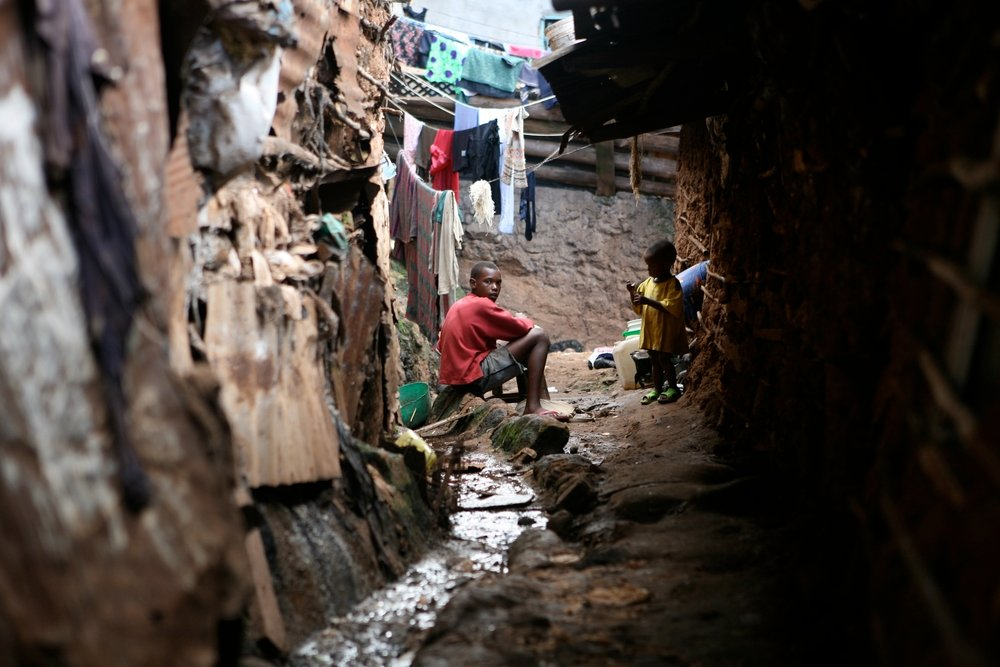 Slum Survivors in Nairobi, Kenya, 23 October. In worldwide, more than a billion people live in slums, with as many as one million in Kibera, Africa's largest slum