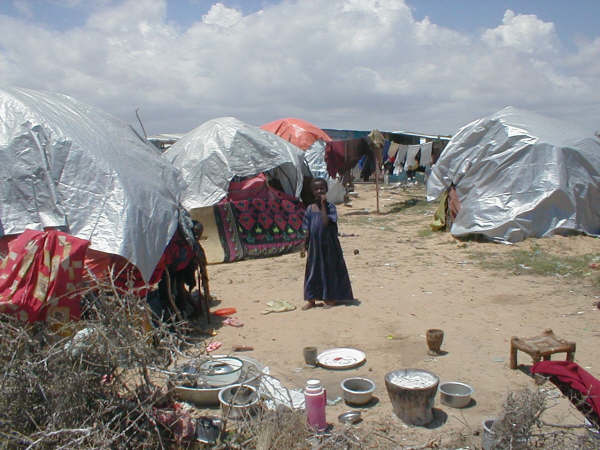 An IDP camp in Dayniile, northwest of Mogadishu.