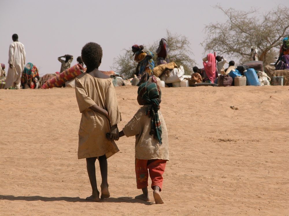 Sudanese children at a refugee camp in eastern Chad