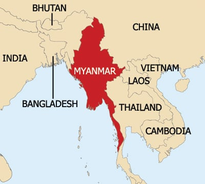 map of burma and surrounding countries The New Humanitarian Uk Announces Doubling Of Aid map of burma and surrounding countries