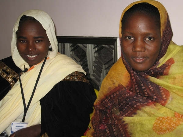 Two women in Mauritania who had operations for obstetric fistula. (November 2007)