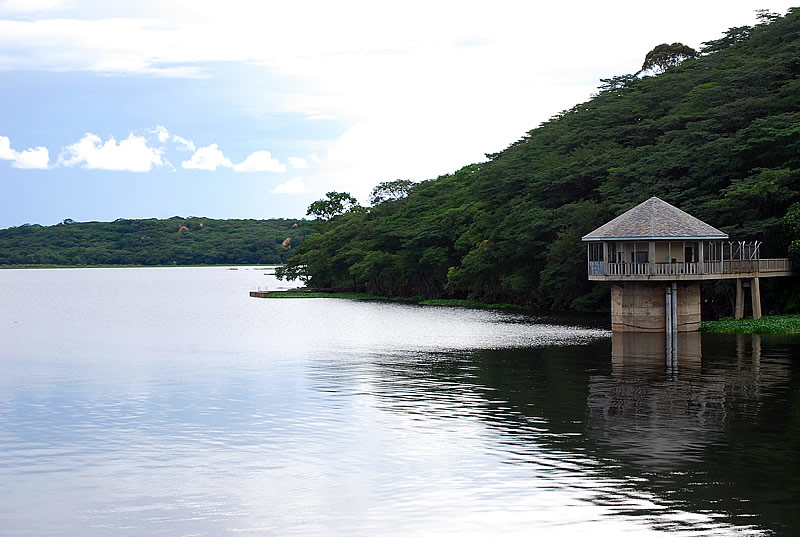 Water levels rising in Lake Chivero after heavy rains.