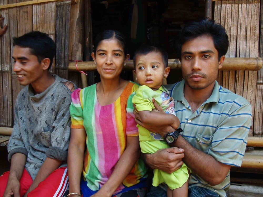 A Burmese refugee family in Mai La camp on the Thai border with Myanmar who are soon to be resettled in the United States. Thailand. February 2008.