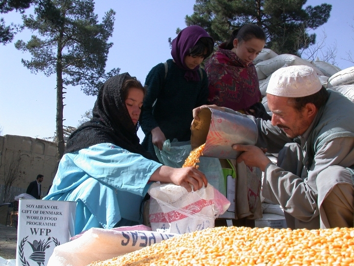 WFP says it feeds about seven million people across Afghanistan.