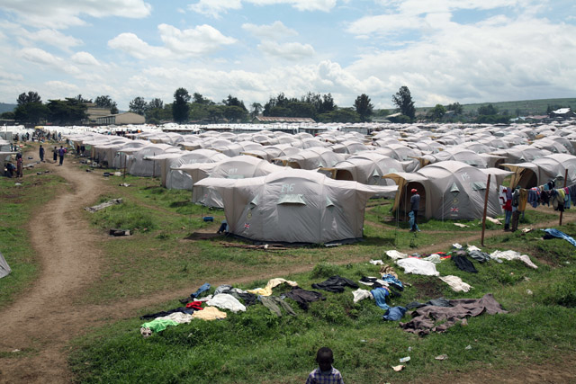 A view of Nakuru IDP camp, April 2008. At least 350,000 were displaced during the post election violence in Kenya, which also claimed the lives of more than 1,200 people.