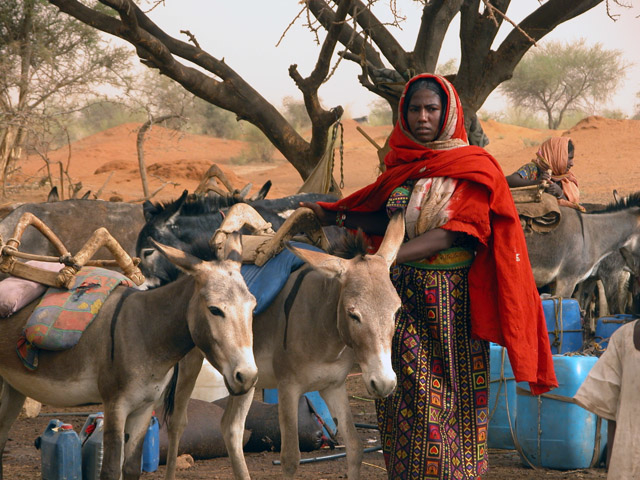 A woman from the Kawahla tribe, who are mainly herders in Sudan's North Kordofan.
