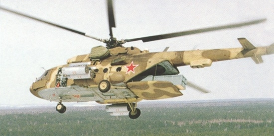 An Mi8T helicopter with an extended loading ramp can carry as much as three metric tonnes of food and other critical supplies.