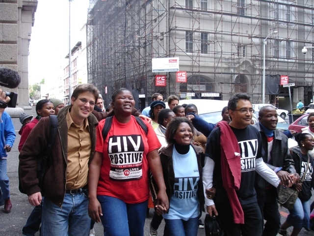 TAC supporters in Cape Town, 13 June 2008.