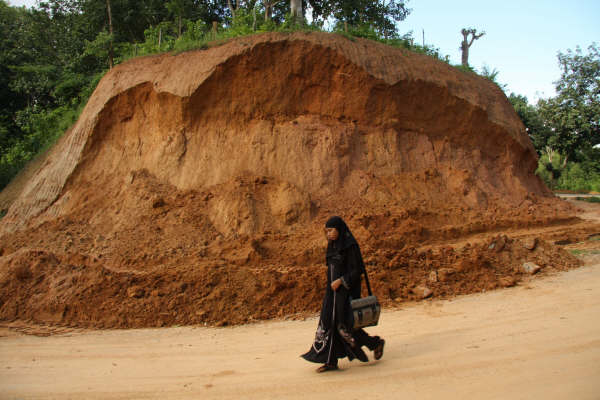 This is how the hills are being cut in Rangamati. There is a growing risk of avalanches/landslides in the area.