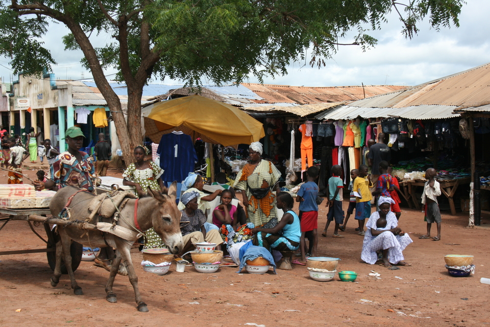 Market in Bafata, 80km east of the capital, Bissau.