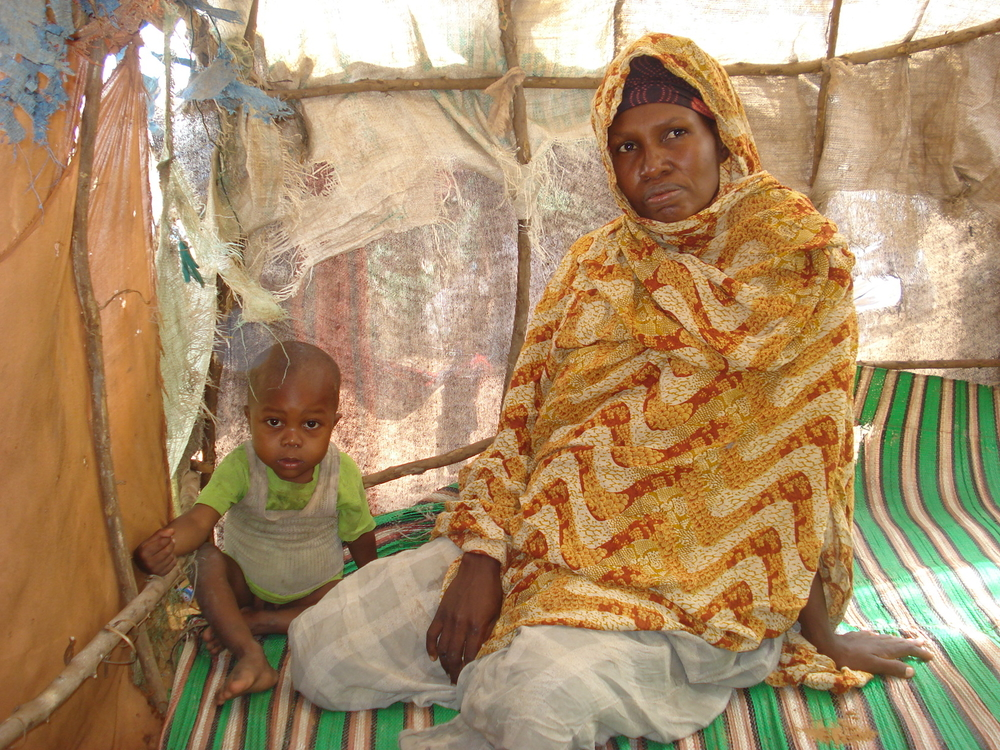 Aweys: An IDP woman whose two children died in a displaced camp outside Mogadishu.