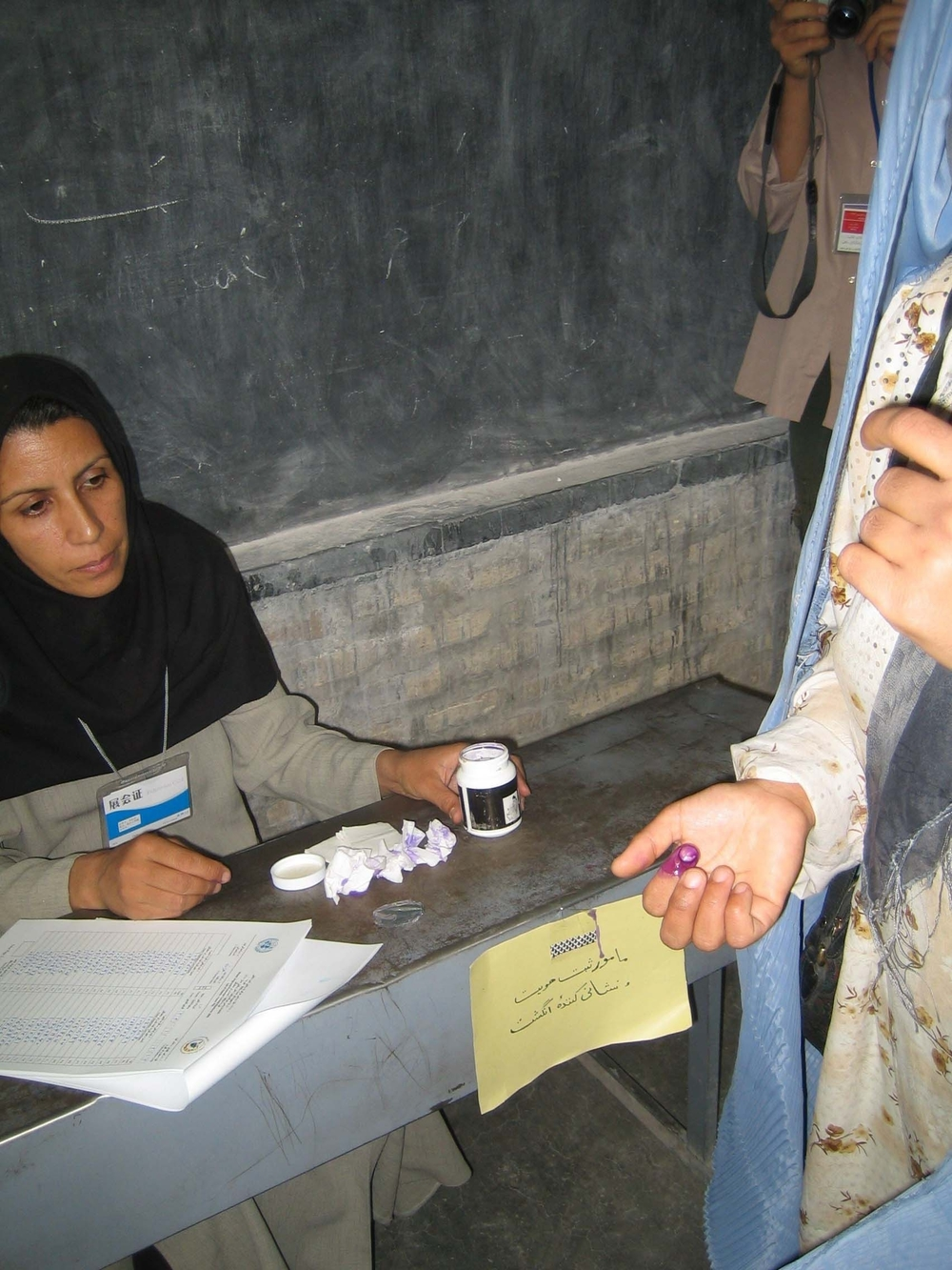 Hundreds of schools and hospitals were used as voting stations in Afghanistan's presidential and parliamentary elections.