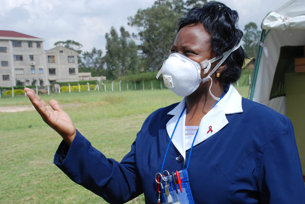 Catherine Koskei is a nurse who works at the MDR-TB center.