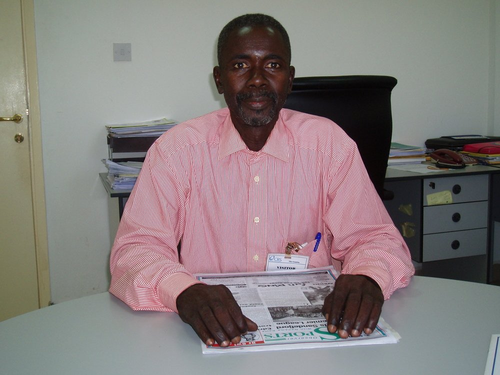 Lamine Ceesay, an HIV/AIDS positive activist in The Gambia.