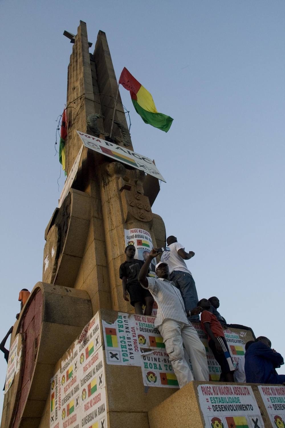 PAIGC supporters in Bissau on election day, November 2008