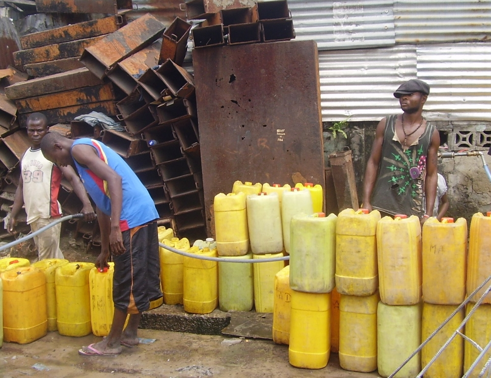 The water supply in Brazzaville is so unreliable that most citizens stock up using jerry-cans to see them through the long periods when taps run dry
