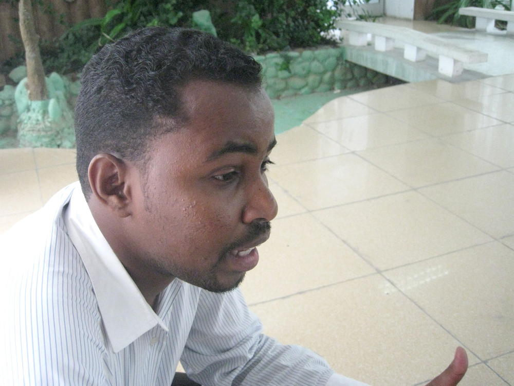Jaffer Mohamed Kukay, a Somali journalist who is now a refugee in Djibouti