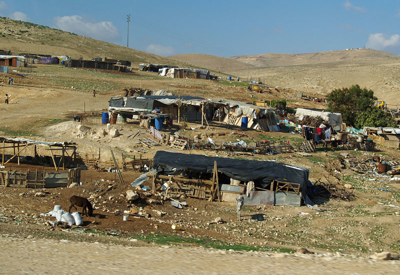 A Bedouin settlement in Israel's southern Negev area