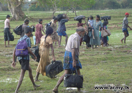 Thousands of Tamil civilians have fled to government-controlled areas to escape the fighting between the army and the remaining remnants of the LTTE