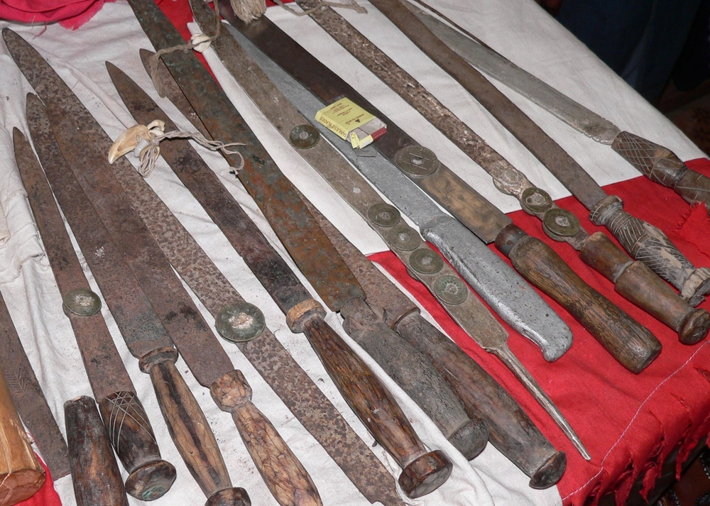 Ceremonial knives used by members of the Bondo society
