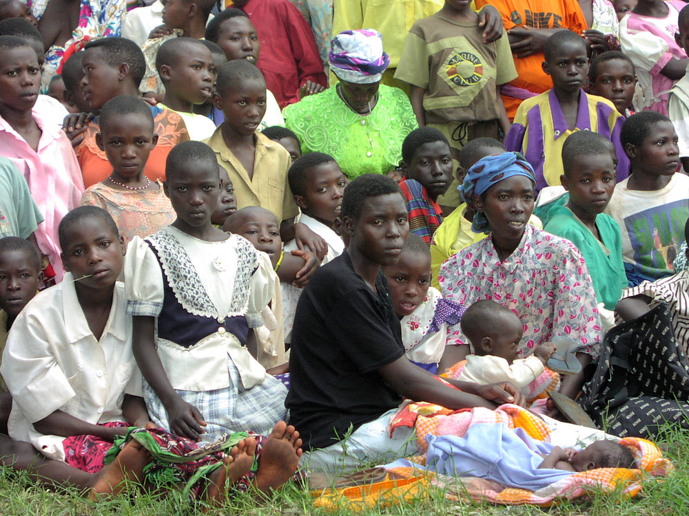 A group of women and children from Rwanda