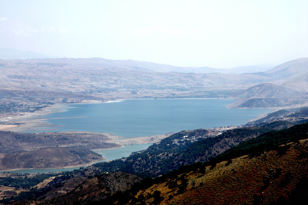 The man-made lake Qaraoun in the Bekaa Valley is one of Lebanon's only two dams