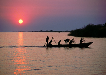 Fishermen on Lake Tanganyika