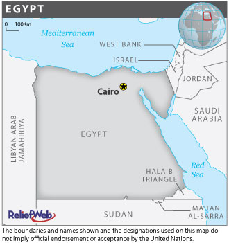 A map of Egypt