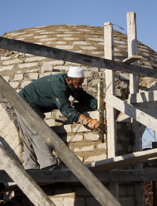 Because of an Israeli blockade on construction materials such as cement and steel entering Gaza, Palestinians are making the most of local resources