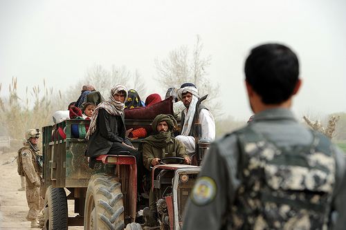 Returning families to Marjah, Helmand