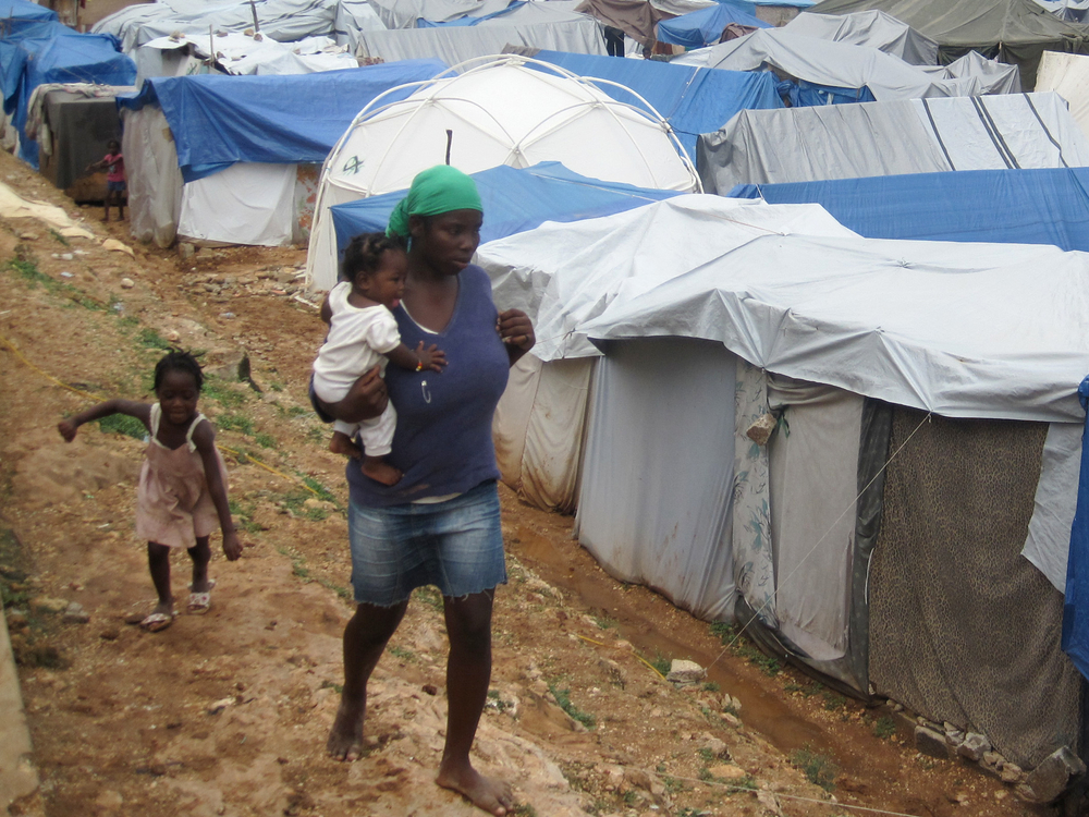 IDP camp in Port-au-Prince
