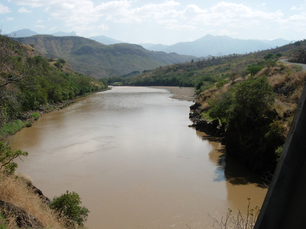 Gibe 3 reservoir site in Ethiopia