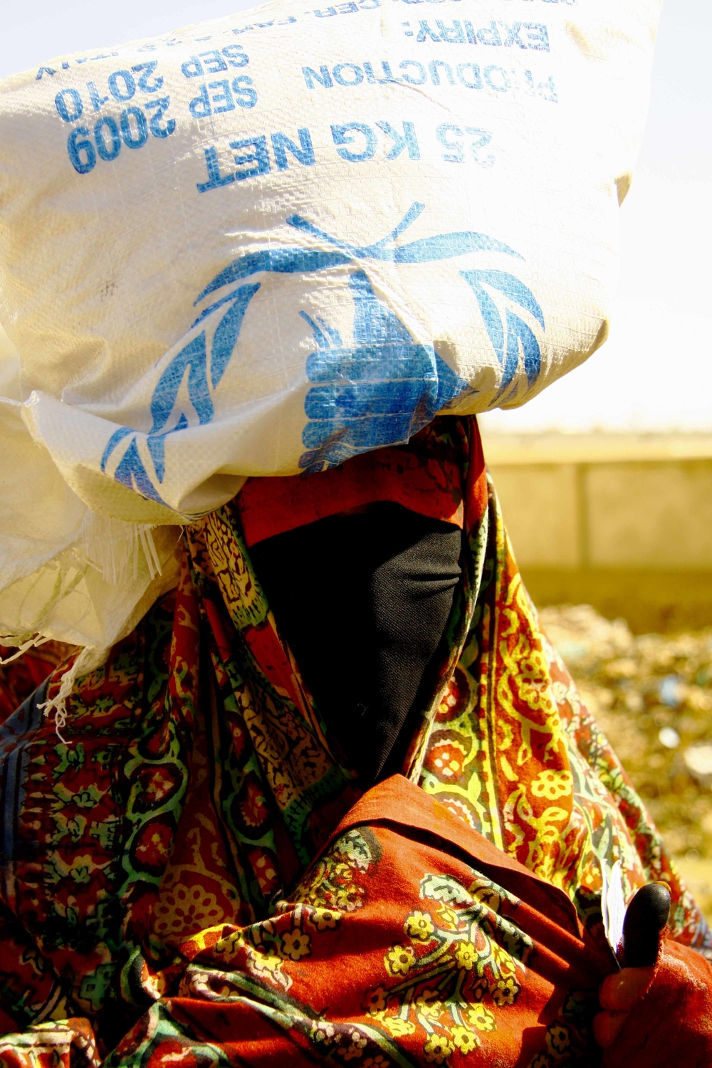 A Yemeni women at a WFP feeding centre