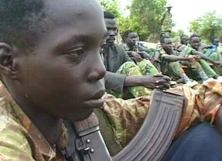A child soldier in Sudan