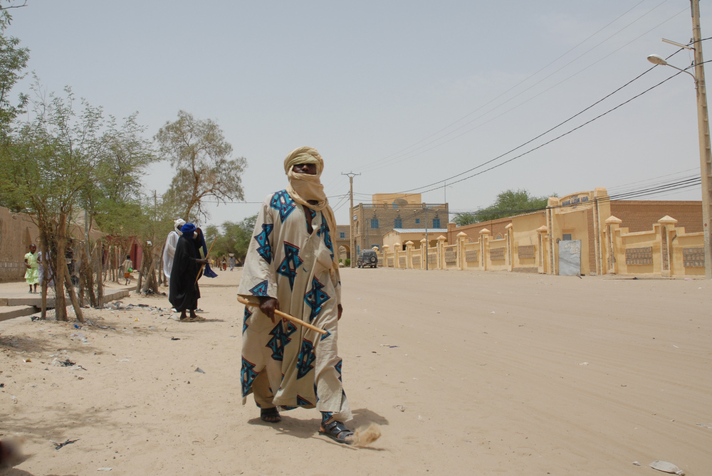 A typical street scene in Timbuktu. Mali. For generic use