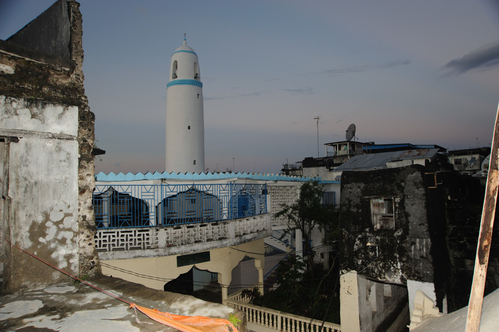 The Fatima Biuti Ankili mosque, built in 1610, in Mutsamudu, the capital of Anjouan, in the Comoros