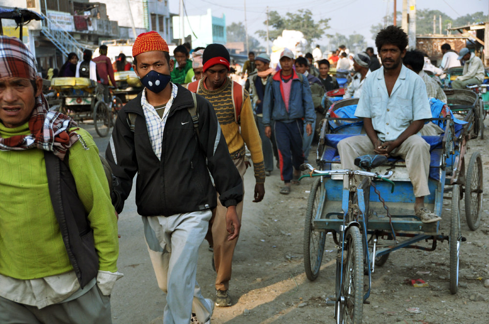 Nepalgani, a crossing point into India for migrant workers