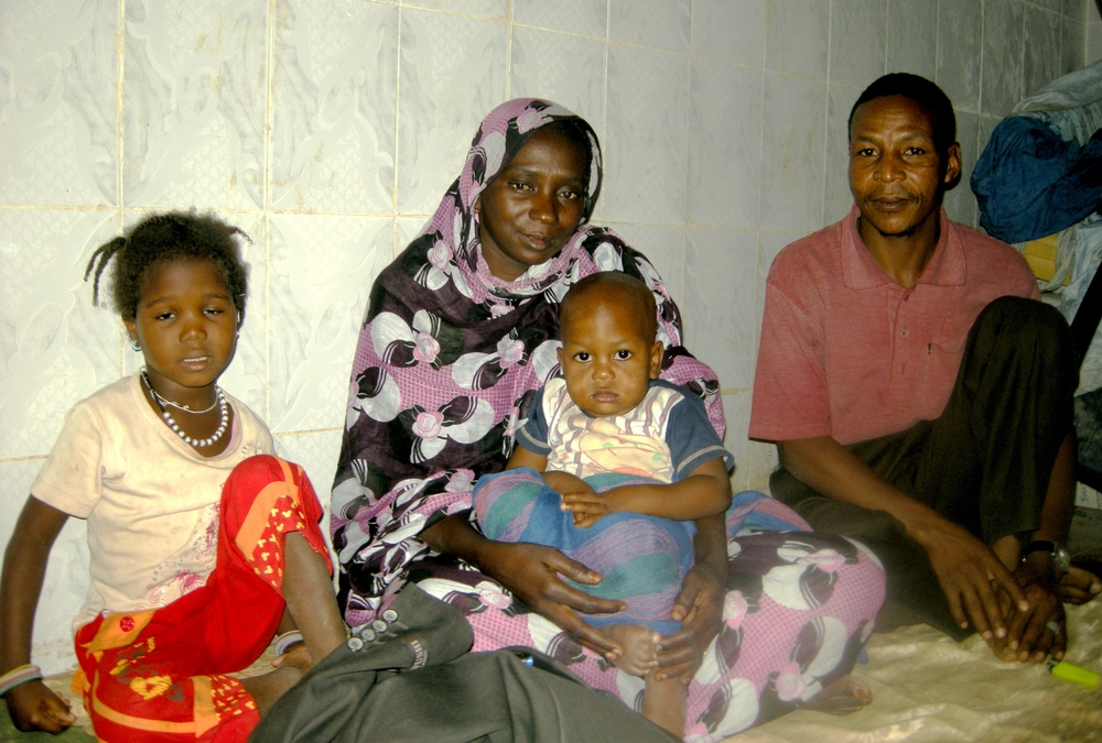 Former slave Mattallah Ould M'Boirk with his family, Mauritania capital Nouakchott. December 2010
