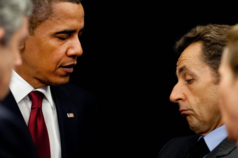 U.S President Barrack Obama and French President Nicolas Sarkozy