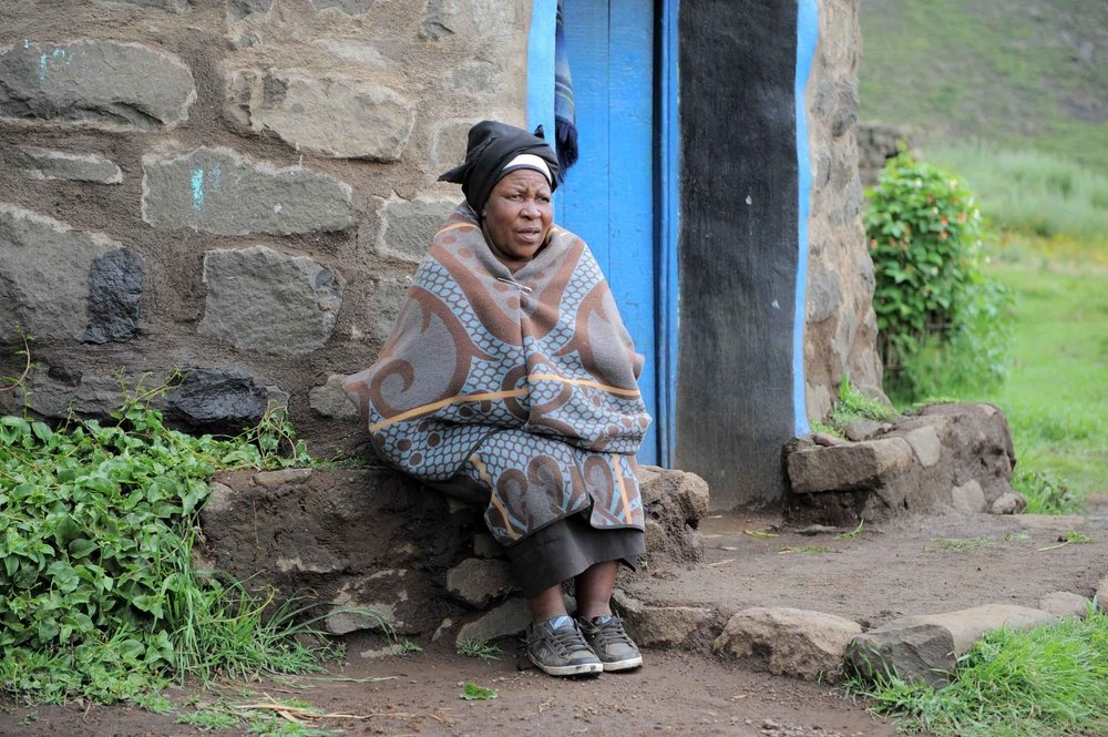 Mamokoto Maluke is receiving seeds for her vegetable garden and supplementary food for her grandson through a new joint programme by the United Nations and the Lesotho government to tackle the worst performing Millennium Development Goals