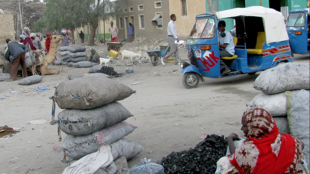 Charcoal traders in Hargeisa. The prices of charcoal have sharply risen in the past six months