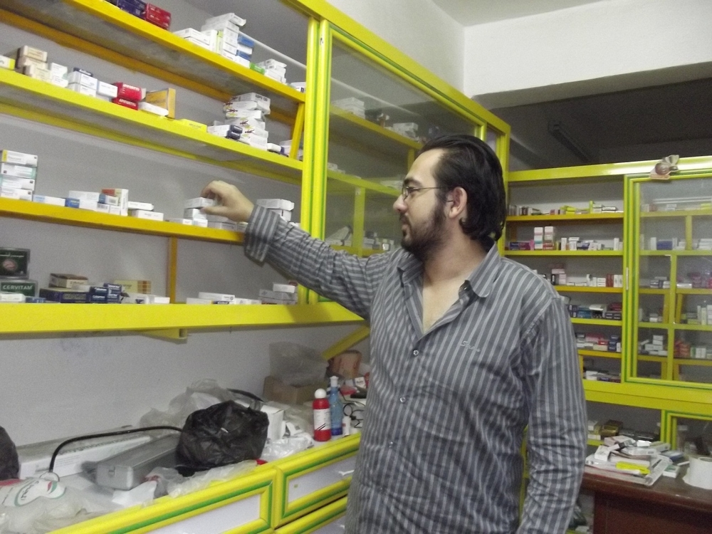 Alaa Mohamed, a pharmacist in Cairo's middle class Dar Al Salam District, says locally-made drugs are hard to come by