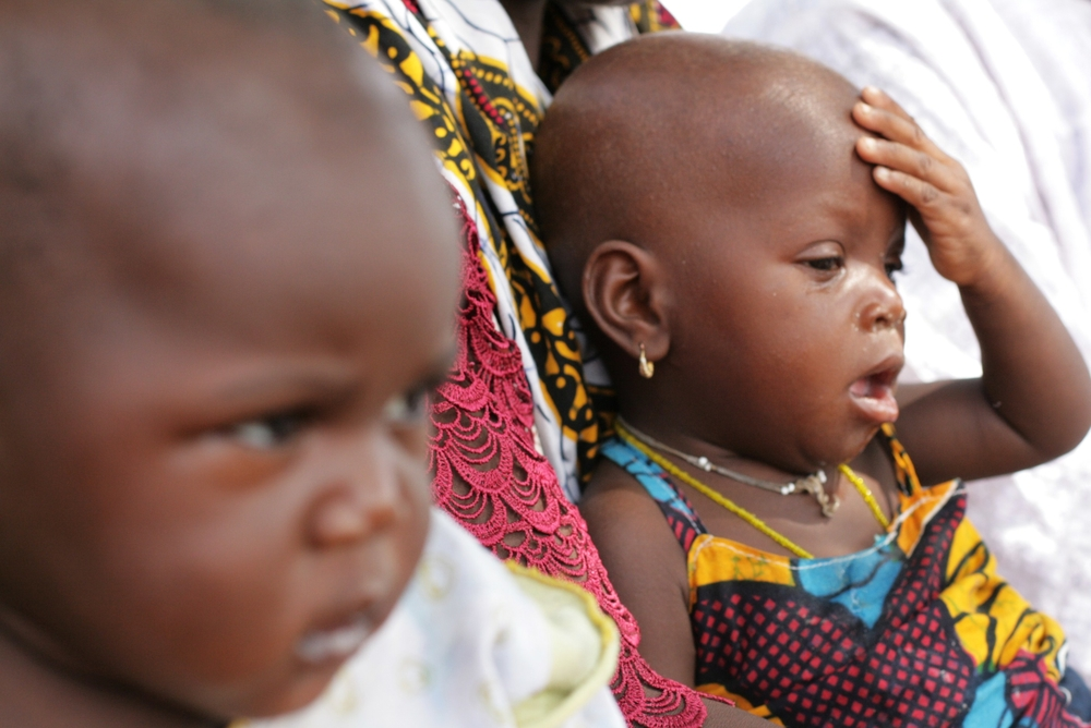 Infants in the village of Djomga in Dori, northeastern Burkina Faso. June 2011