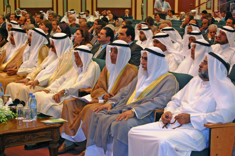 Gulf dignitaries attend the opening of a 12-13 September meeting in Kuwait City organized by the UN Office for Coordination of Humanitarian Affairs (OCHA), Direct Aid and the International Islamic Charitable Organization